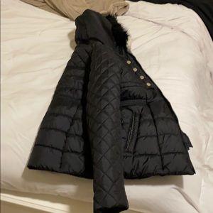 Jessica Simpson kids black winter coat